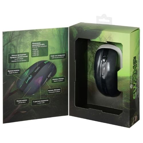 Мышь OKLICK 975GW SWAMP Black USB фото 9