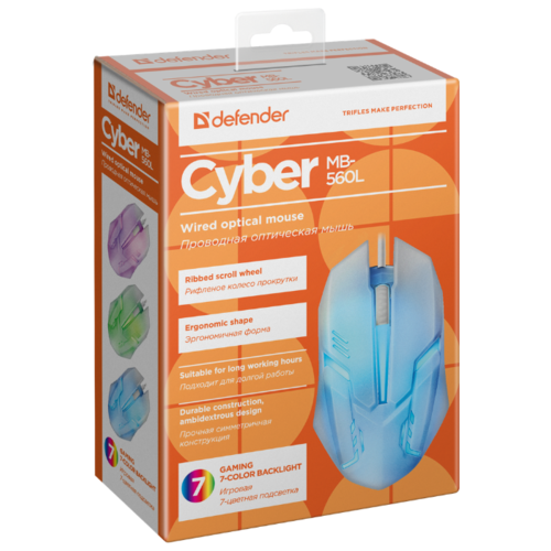 Мышь Defender Cyber MB-560L USB фото 8
