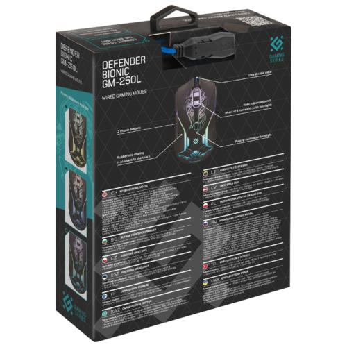 Мышь Defender Bionic GM-250L Black USB фото 15