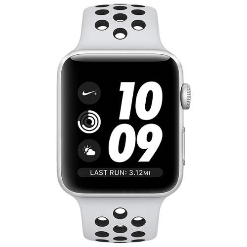 Часы Apple Watch Series 3 38mm Aluminum Case with Nike Sport Band фото 2