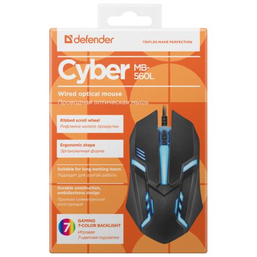 Мышь Defender Cyber MB-560L USB фото 4