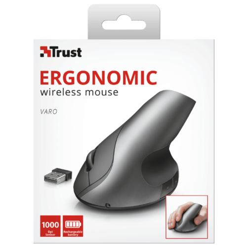 Мышь Trust Varo Wireless Ergonomic Mouse Black USB фото 2